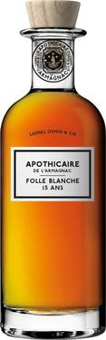 Armagnac Apothicaire Folle Blanche 15ans Cask Strenght 49.1% 50cl