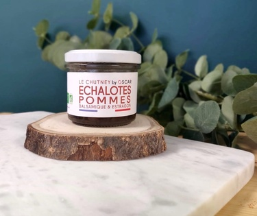 Chutney Echalotes Pommes Balsamique Estragon By Oscar 100g