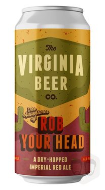 Usa Virginia Beer Co Rob Your Head Imperial Red Ale Cans 8.4% 4.73cl