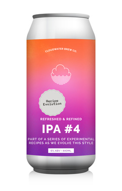 Uk Cloudwater Recipe Evolution Ipa #4 Cans 6% 44cl