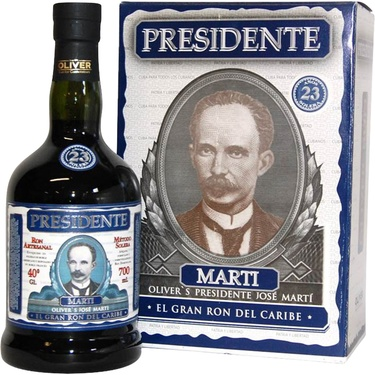 Rhum Republique Dominicaine Presidente Marti 15 Ans 40% 70cl